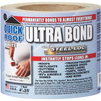 Quick Roof Ultra Bond 4 In. x 25 Ft. Instant Self-Adhesive Roof Repair