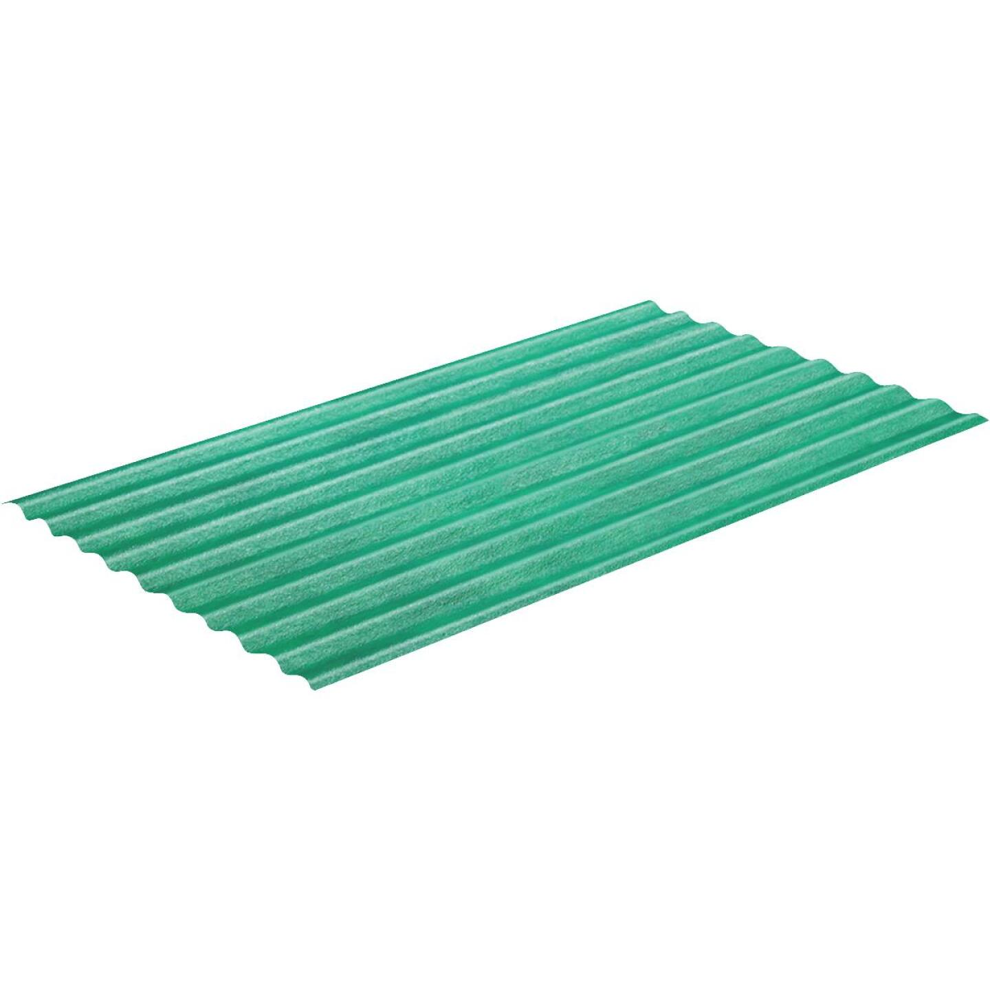 Sequentia WeatherGlaze 26 In. x 12 Ft. Green Round 1-Sided Fiberglass Corrugated Panels Image 1
