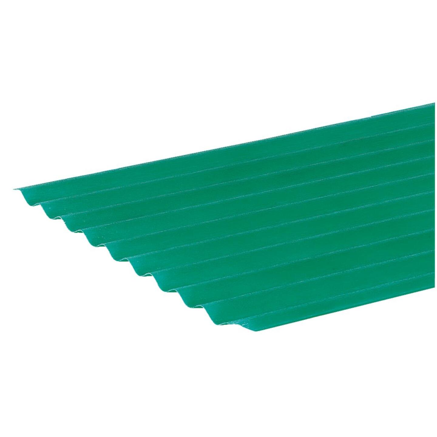Sequentia WeatherGlaze 26 In. x 8 Ft. Green Round 1-Sided Fiberglass Corrugated Panels Image 2