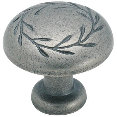Amerock Inspirations Weathered Nickel 1-1/4 In. Cabinet Knob