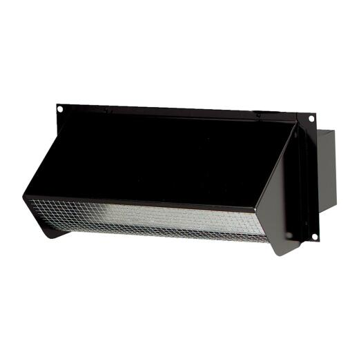 Broan-Nutone 3-1/4 In. x 10 In. Black Galvanized Steel Wall Vent Cap