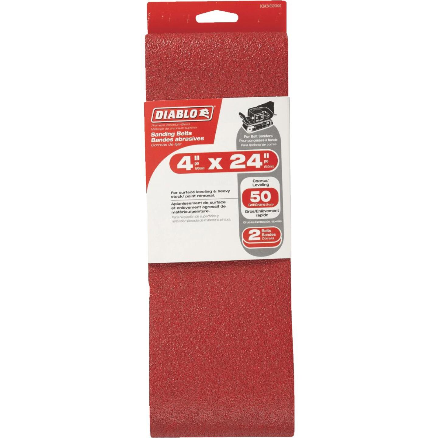 Diablo 4 In. x 24 In. 50 Grit General Purpose Sanding Belt (2-Pack) Image 1