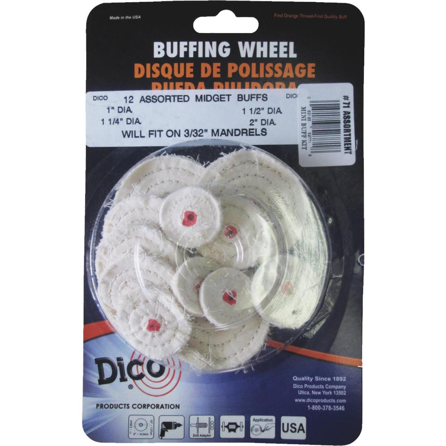 Dico Assorted Buffing Wheel (12-Pack) Image 1
