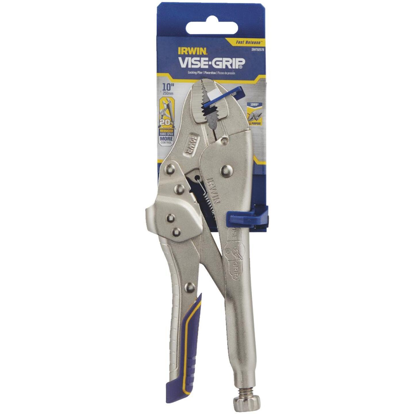 Irwin Vise-Grip Fast Release 10 In. Curved Jaw Locking Pliers Image 2