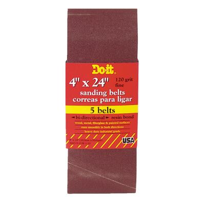 Do it Best 4 In. x 24 In. 120 Grit Dual Direction Sanding Belt (5-Pack)