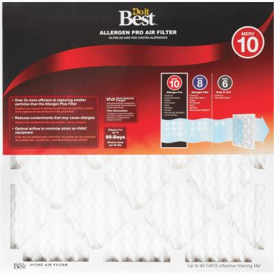 Do it Best 20 In. x 30 In. x 1 In. Allergen Pro MERV 10 Furnace Filter