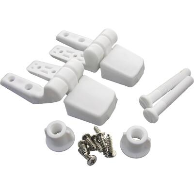 "Lasco 3/8"" x 2-1/2"" White Plastic Toilet Seat Hinge for Bemis"