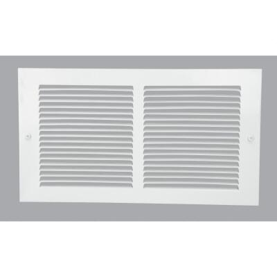 Home Impressions 6 In. x 12 In. White Steel Baseboard Grille