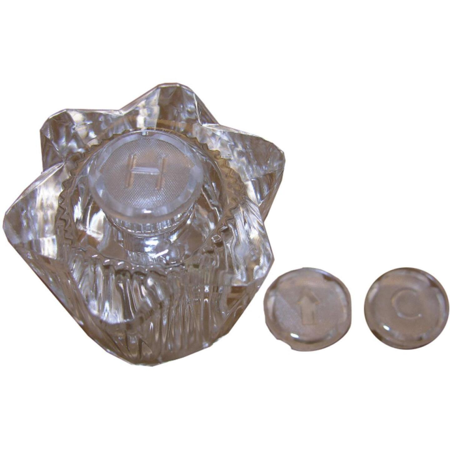 Lasco Streamway Hot, Cold or Diverter Clear Tub & Shower Handle Kit Image 1