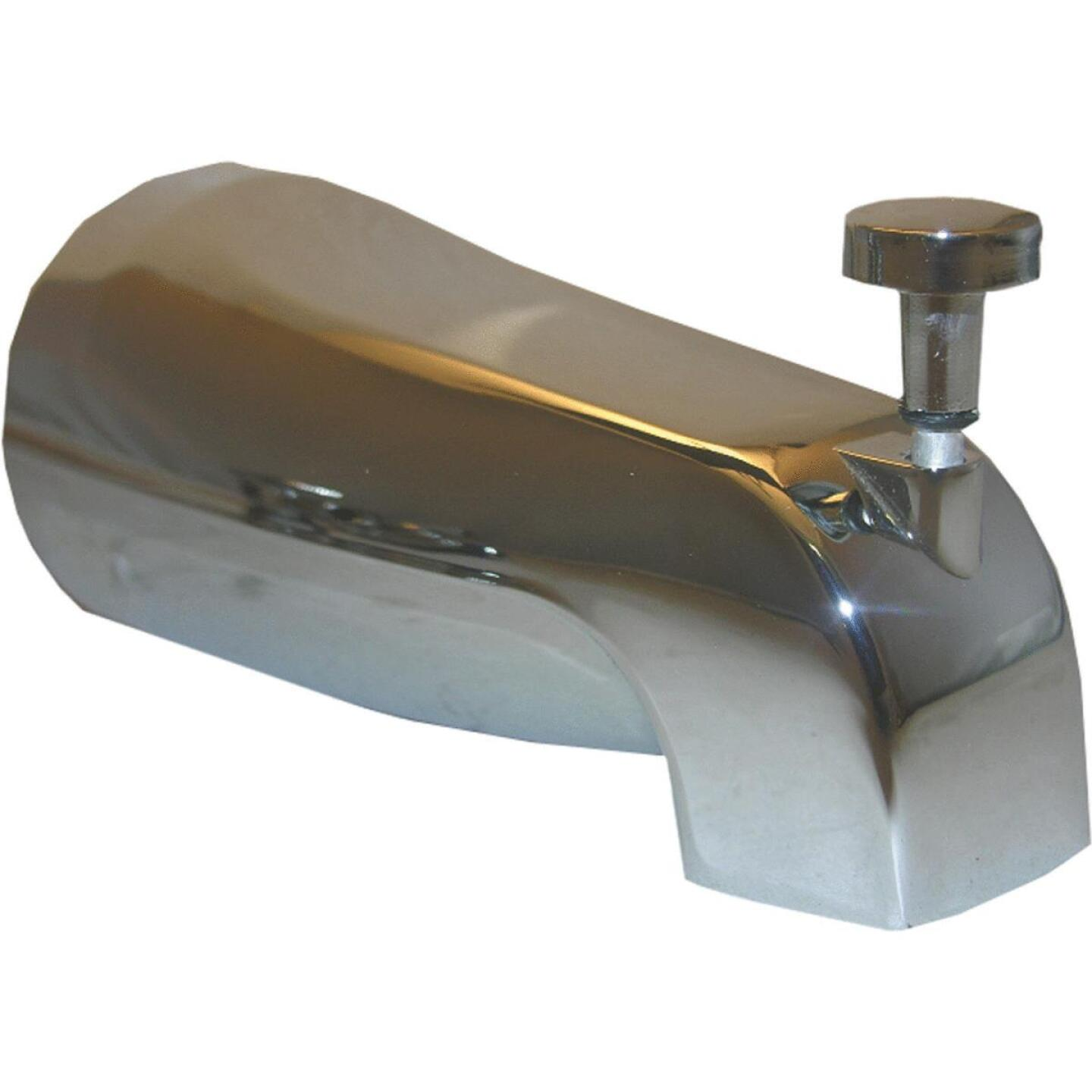 Lasco 5/8 In. Slip-Fit Chrome Bathtub Spout with Diverter Image 1