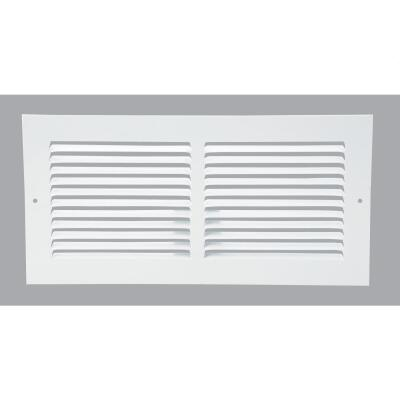 Home Impressions 6 In. x 14 In. Stamped Steel Return Air Grille