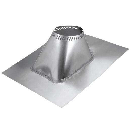 SELKIRK 6 In. Aluminum Adjustable Roof Pipe Flashing, 6/12 to 12/12 Roof Pitch