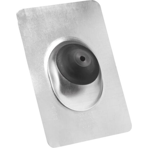 Oatey No-Calk 1/2 In. to 1 In. Galvanized Solar Roof Pipe Flashing