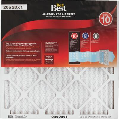 Do it Best 20 In. x 20 In. x 1 In. Allergen Pro MERV 10 Furnace Filter