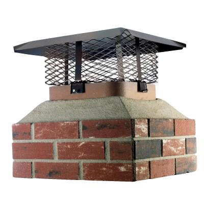 Shelter Adjustable Black Galvanized Steel Single Flue Chimney Cap for Large Flue