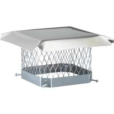 Shelter 13 In. x 13 In. Stainless Steel Single Flue Chimney Cap