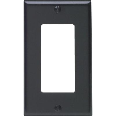 Leviton Decora 1-Gang Smooth Plastic Rocker Decorator Wall Plate, Black