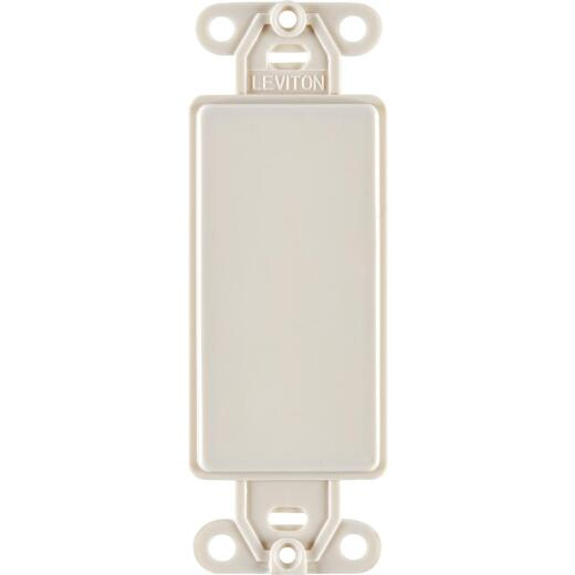 Leviton Decora QuickPort Light Almond Blank Wall Plate Insert
