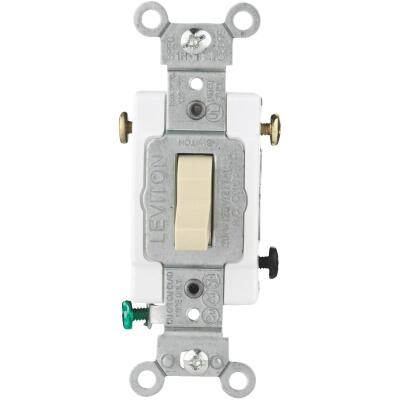 Leviton Toggle Ivory 20A Grounding Quiet 3-Way Switch