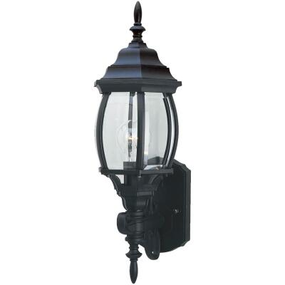 Home Impressions Black Incandescent A19 Outdoor Wall Light Fixture