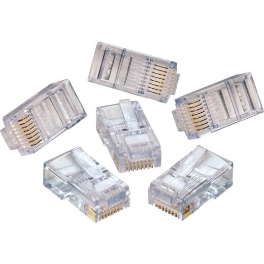 Leviton RJ45 CAT-5E Clear Connector (10-Pack)