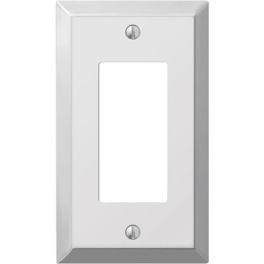 Amerelle 1-Gang Stamped Steel Rocker Decorator Wall Plate, Polished Chrome