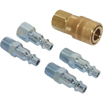 Milton 1/4 In. M-Style Coupler and Plug Kit, (5-Piece)