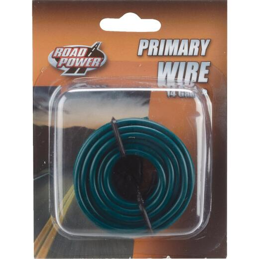 ROAD POWER 17 Ft. 14 Ga. PVC-Coated Primary Wire, Green