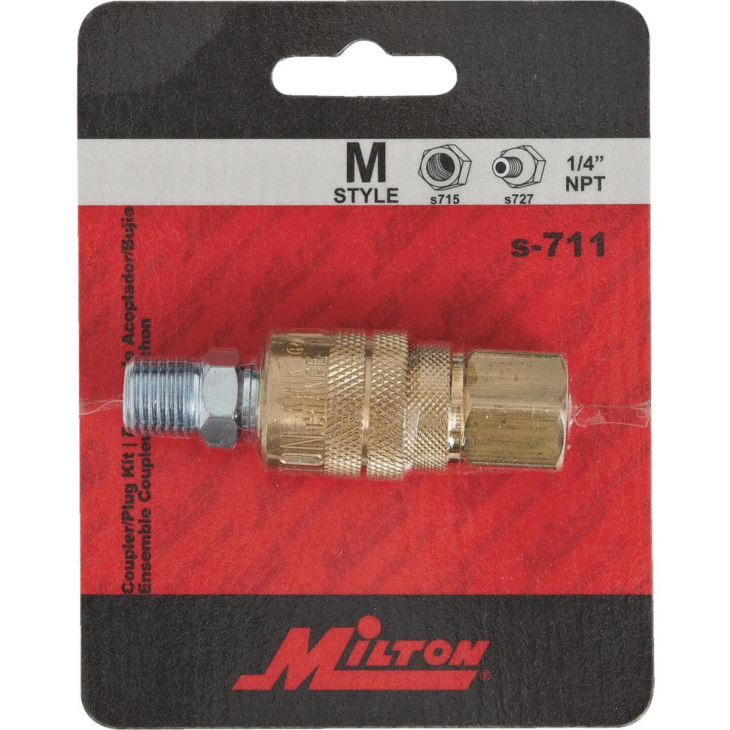 Milton 1/4 In. M-Style Coupler and Plug Image 2
