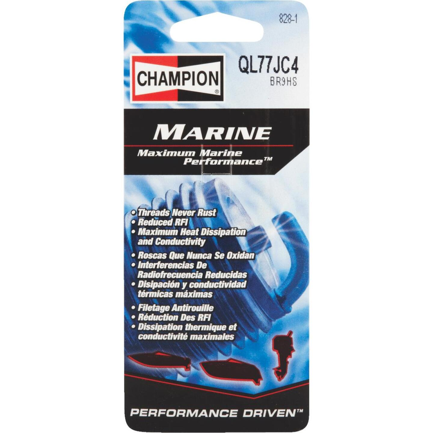 Champion QL77JC4 Copper Plus Marine Spark Plug Image 1