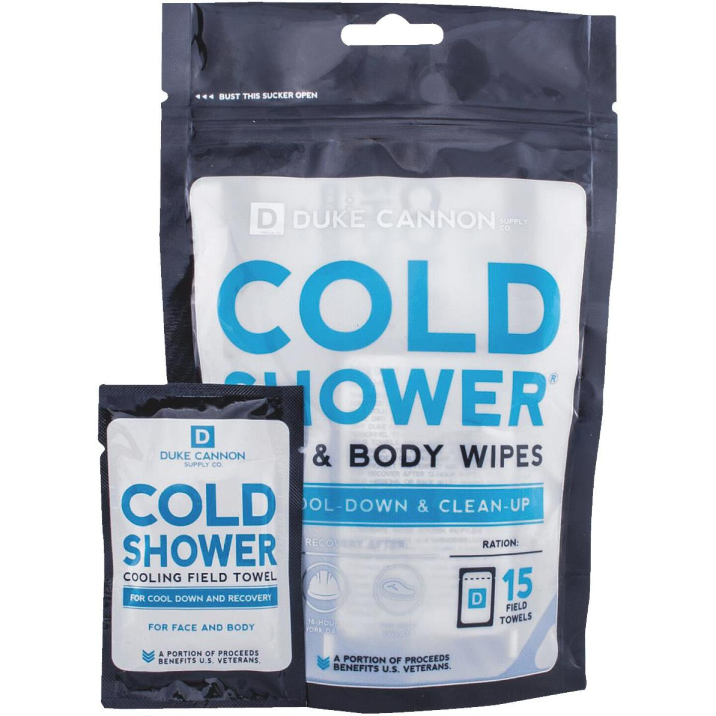 Duke Cannon Cold Shower Face & Body Wipe (15 Count) Image 1