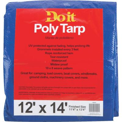 Do it Blue Woven 12 Ft. x 14 Ft. Medium Duty Poly Tarp