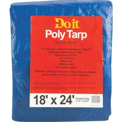 Do it Blue Woven 18 Ft. x 24 Ft. Medium Duty Poly Tarp