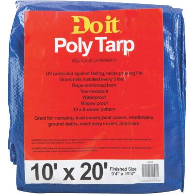 Do it Blue Woven 10 Ft. x 20 Ft. Medium Duty Poly Tarp