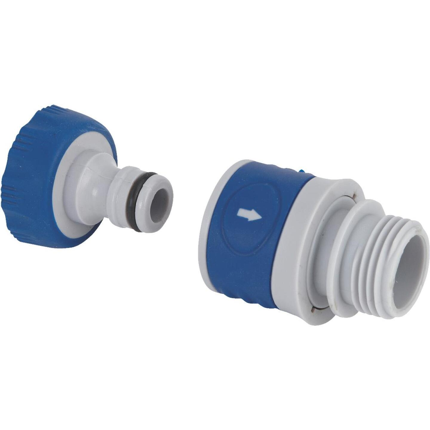 Best Garden 1 Male, 1 Female Poly Faucet Quick Connect Connector Set Image 1