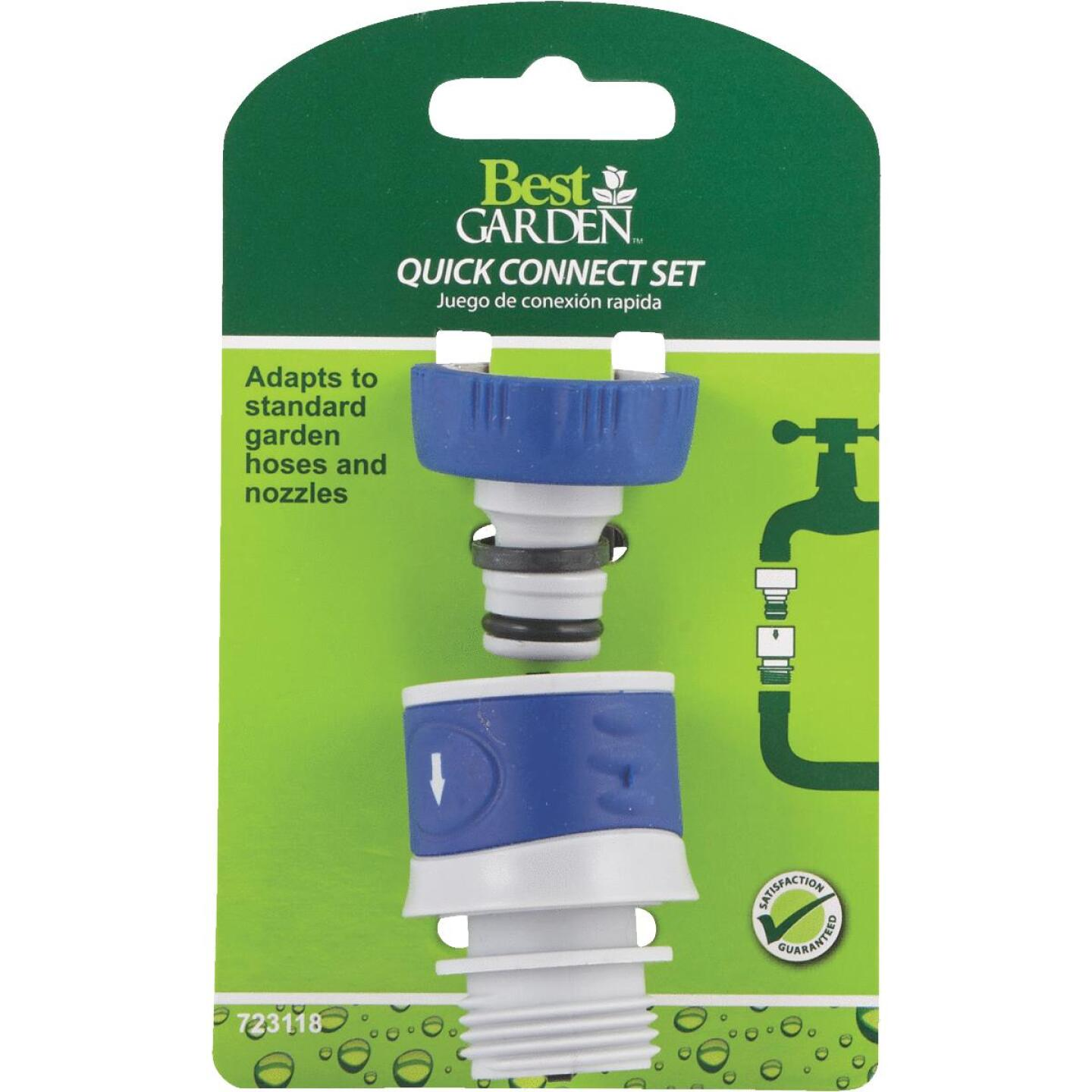Best Garden 1 Male, 1 Female Poly Faucet Quick Connect Connector Set Image 3