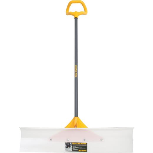 True Temper 36 In. Nylon Snow Pusher with 42 In. Steel Handle