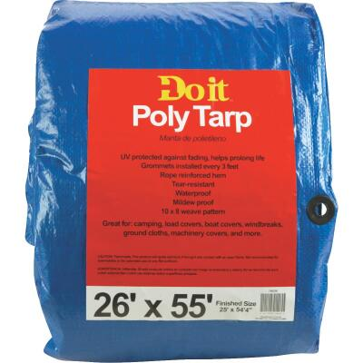 Do it Blue Woven 26 Ft. x 55 Ft. Medium Duty Poly Tarp