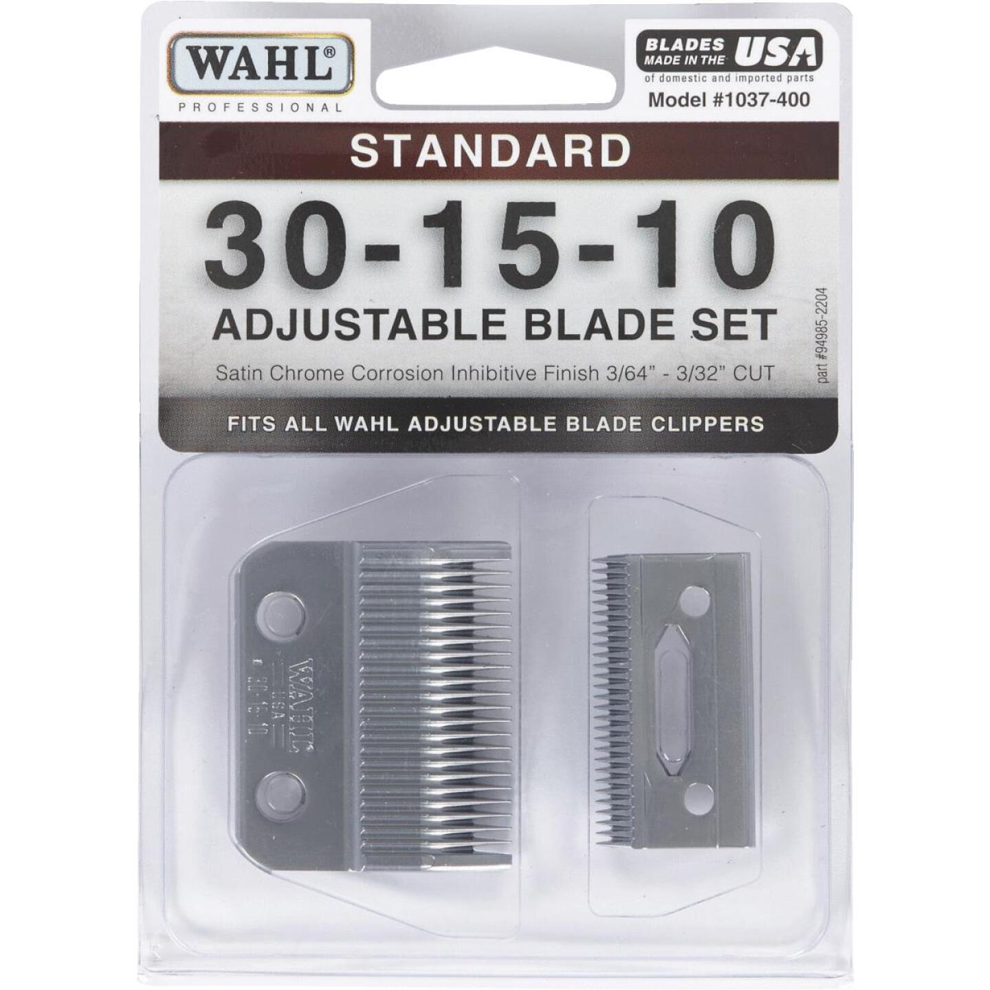 Wahl Satin Chrome Replacement Clipper Blade Set with Oil  Image 2