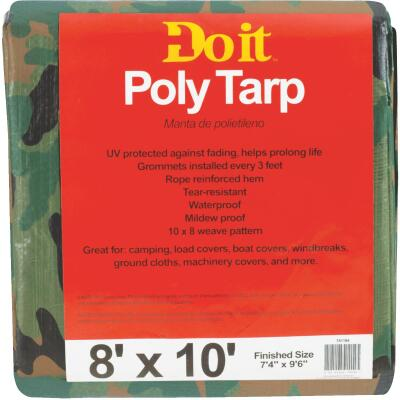 Do it Camo Woven 8 Ft. x 10 Ft. Medium Duty Poly Tarp