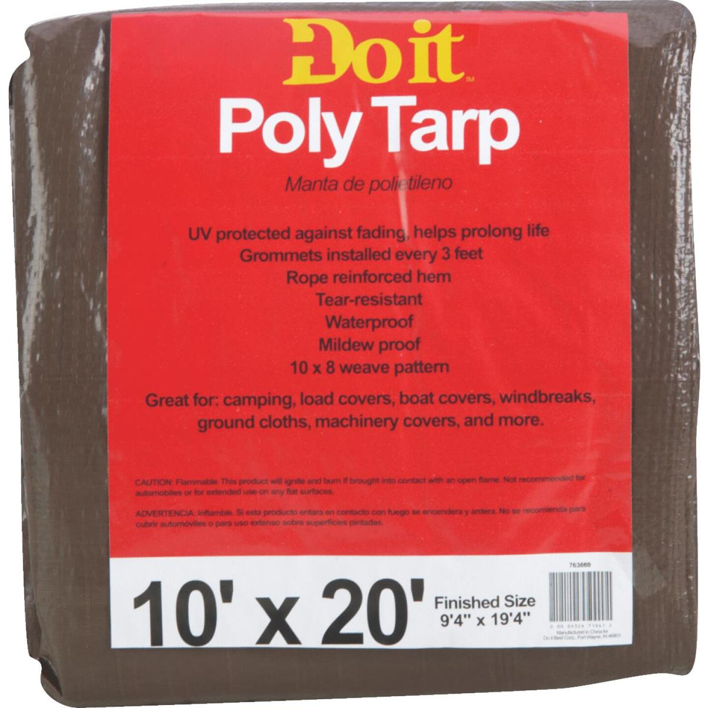 Do it Green/Brown Woven 10 Ft. x 20 Ft. Medium Duty Poly Tarp Image 1