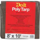 Do it Green/Brown Woven 8 Ft. x 10 Ft. Medium Duty Poly Tarp Image 1