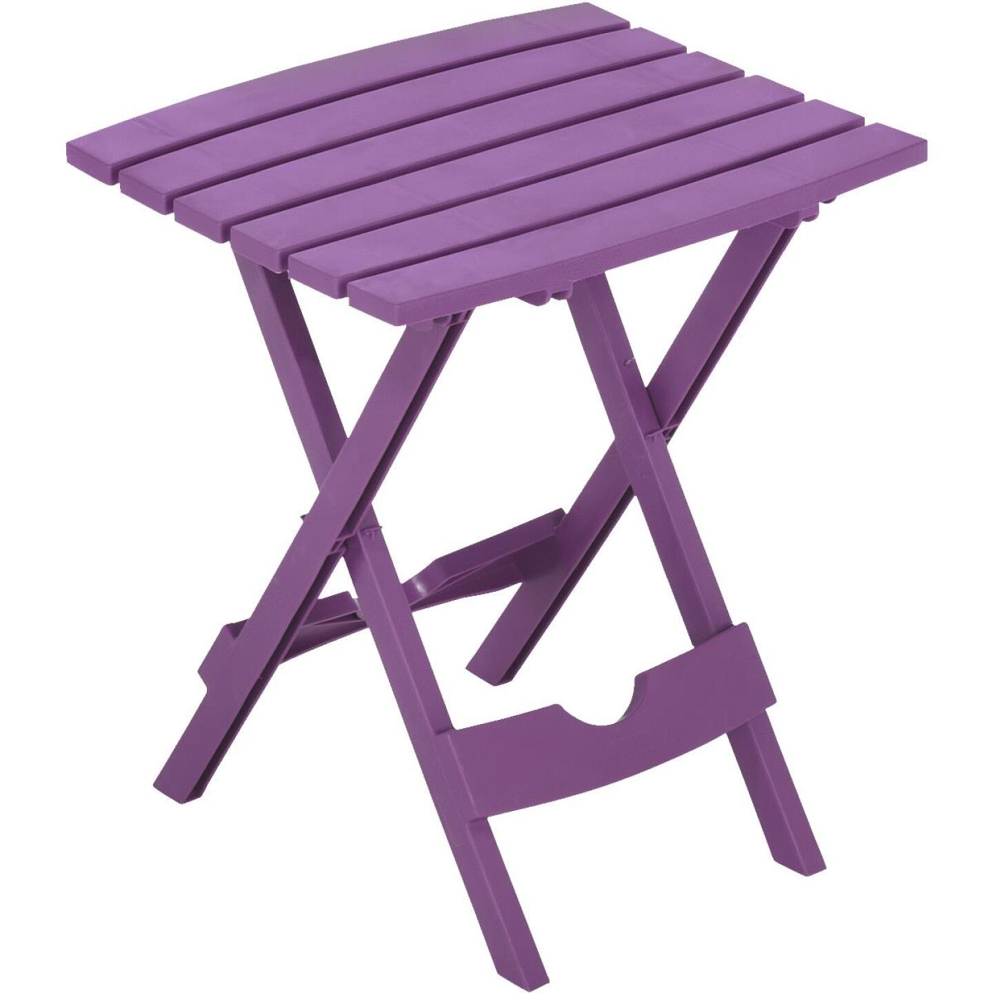 Adams Quik-Fold Violet 15 In. x 17.5 In. Rectangle Resin Folding Side Table Image 1