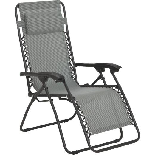 Outdoor Expressions Seville Gray Convertible Lounge Chair