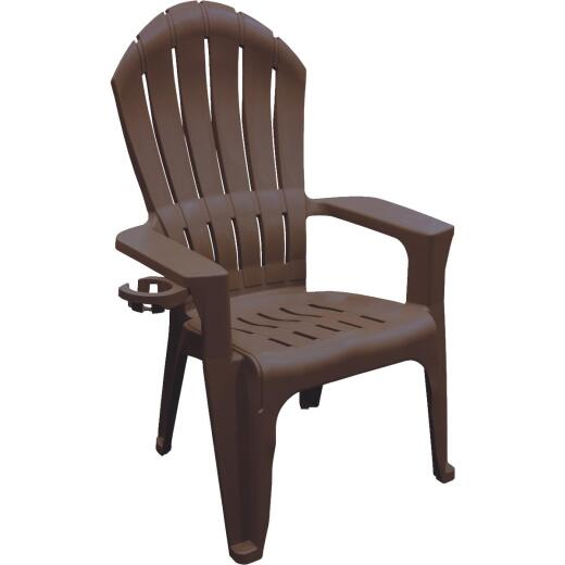 Adams Big Easy Earth Brown Resin Adirondack Chair