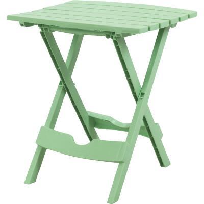 Adams Quik-Fold Green 15 In. x 17.5 In. Rectangle Resin Folding Side Table