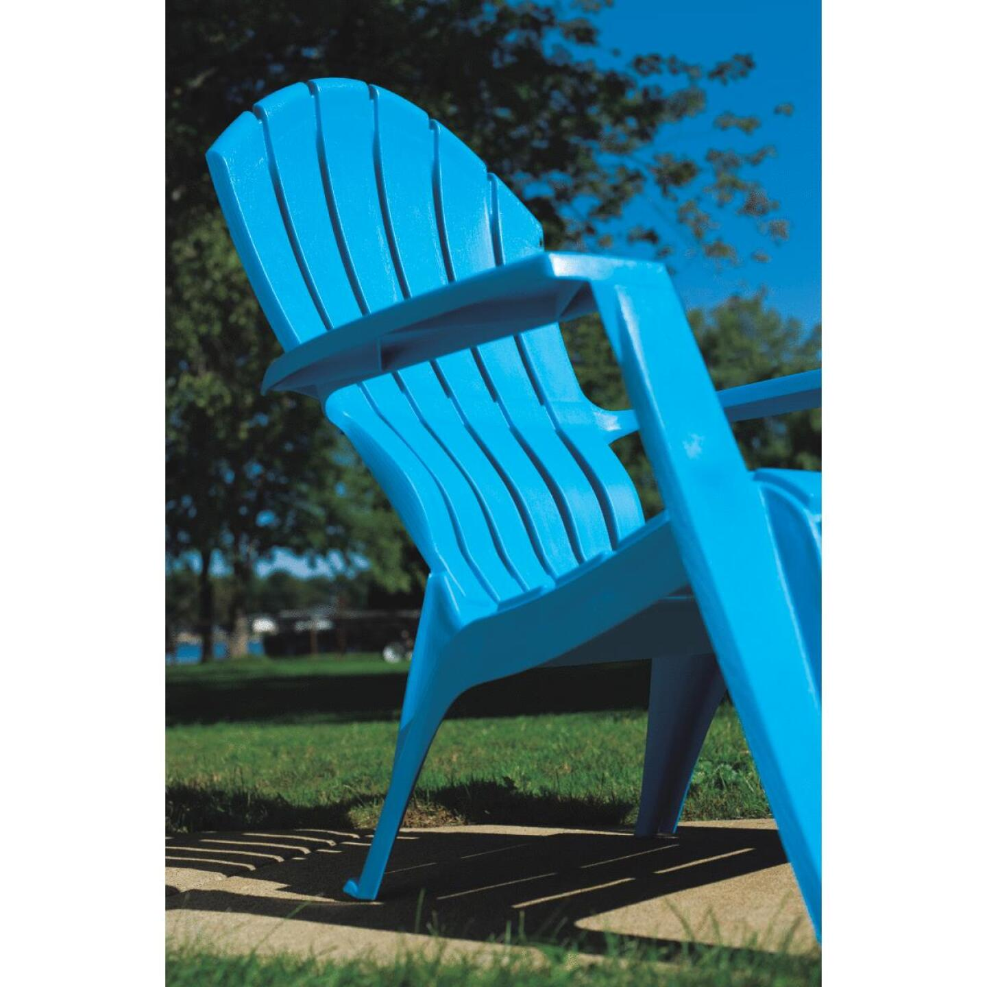 Adams RealComfort Pool Blue Resin Adirondack Chair Image 3