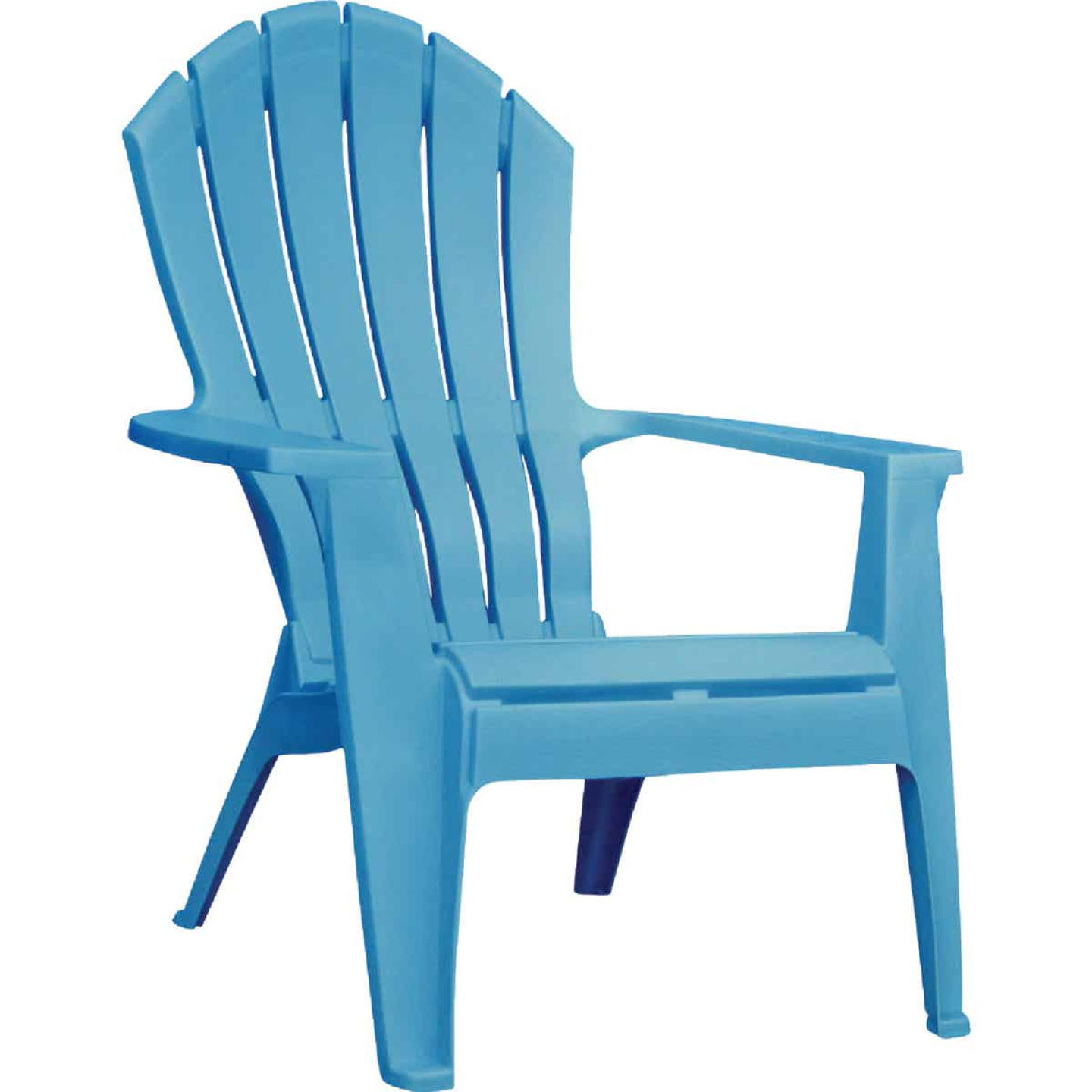 Adams RealComfort Pool Blue Resin Adirondack Chair Image 1