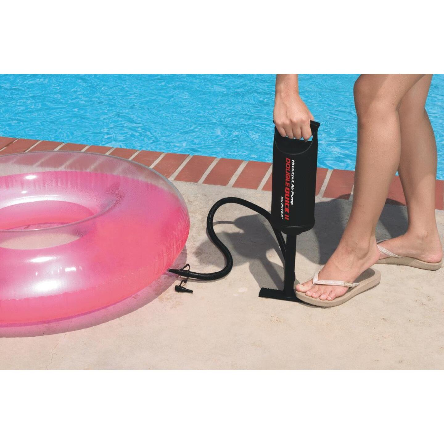 Intex High Output Air Hand Pump, 14 In., 3 Nozzles Included Image 2