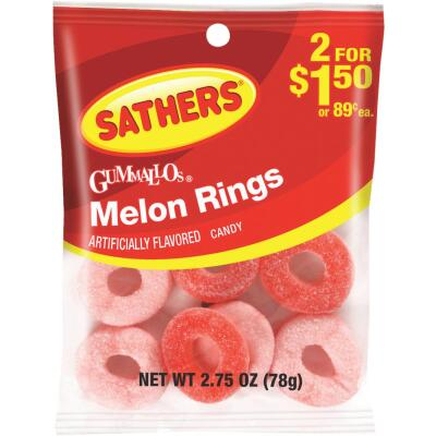 Sathers 2.75 Oz. Melon Rings